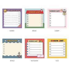Cute Lists Cute Checklist To Do List Memo Notepad