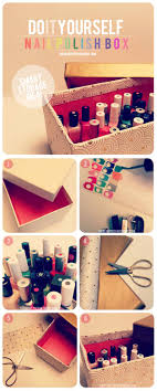 diy makeup organizing ideas nail polish storage idea projects for makeup drawer box