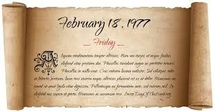 Image result for February 18, 1977,