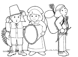 Small Picture Pilgrim And Indian Coloring Pages Thanksgiving chuckbuttcom