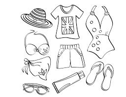 Bộ sưu tập tranh tô màu quần áo cho bé trai và bé gái tập tô màu