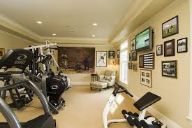 home gym lighting. home workout room gym traditional with sports memorabilia wooden club chairs lighting p