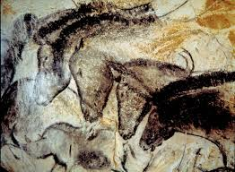cave painting of horses from the hillaire chamber chauvet cave southern france ardeche region