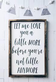 sweet sentimental wooden nursery sign