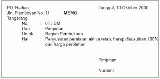 memo kredit bukti transaksi elog education blog