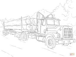 logging coloring pages log truck coloring page free printable coloring pages