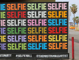 the selfie wall so meta right now  on most famous wall artist with matty mo aka the most famous artist paints uber popular selfie