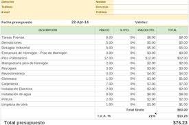 Planilla De Excel De Presupuesto De Obra De Vivienda Planillaexcel Com