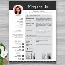 Editable Resume Template Mesmerizing Teacher Resume Template Cover Letter References Black