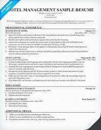 Resume Format For Hoteliers And Sample Personal Information In Hotel