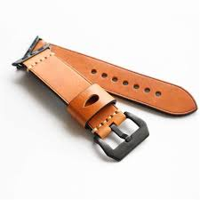 crazy horse genuine leather watch band for apple watch series 1 series 2 38 42mm cod