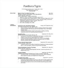 Psychologist Resume Interesting Psychology Resume Samples Good Resume Format Example