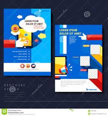 Social Media Design Templates Modern Flat Design Flyer Template For Social Media Concept Stock