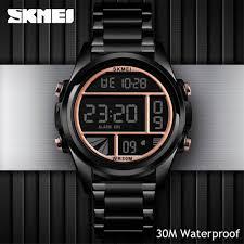 SKMEI <b>Mens Sports Watches</b> 30M Waterproof Digital LED Luminous ...