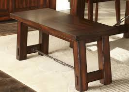 Rubberwood Kitchen Table Gathering Table With Solids Rubberwood Mahogany Stain Finish