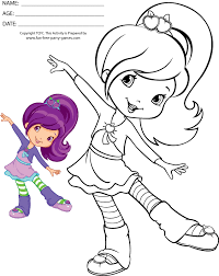 Small Picture Strawberry Shortcake Coloring Pages To Print Coloring Pages