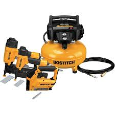 lowes tools. bostitch 6-gallon portable electric pancake air compressor (3 tools included) lowes