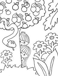 Small Picture Adam and Eve Garden of Eden Free Printable Coloring Page