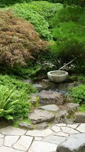 Portland Japanese Garden in Washington Park (Portland, Oregon). The garden  is made