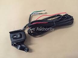 winch control switch 12v winch rocker thumb switch w mounting bracket handle bar control switch