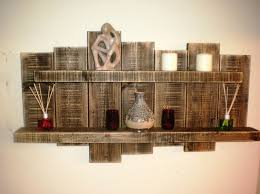 Unique Wall Art Floating Shelf Storage Wall Art Sculpture Rustic Reclaimed Timber  Furniture Wood