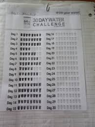 24 Day Challenge Chart 20 Water Challenge Chart Pictures And Ideas On Weric
