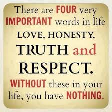honesty quotes sayings about being honest there are four very important words in life love honesty truth and respect