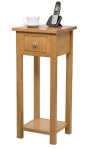 Small Side Table Light Oak His Solid Oak Hallway Side Table Is Perfect For Small Areas
