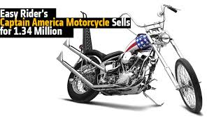 easy rider s captain america motorcycle sells for 1 34 rideapart