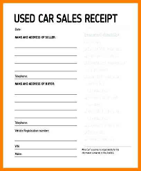 Receipt For Car Sales Magdalene Project Org