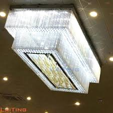 oblong chandeliers big hotel lobby chandelier crystal luxury light for high ceiling rectangular shaped