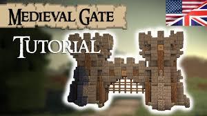 minecraft gate. Minecraft Tutorial: Medieval GATE (English) Gate