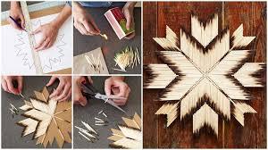 diy tutorial diy match stick art