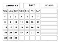 calendars with notes printable january 2017 calendar with notes printable monthly calendars