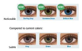 Acuvue Contact Colors Chart Freshlook Colored Lenses Vibrant Views