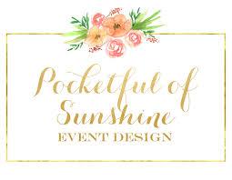 Of Sunshine Event Design Full Service Wedding Planning