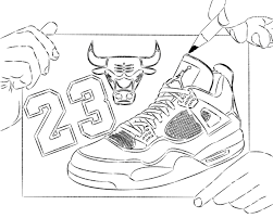 Michael Jordan Coloring Pages Gallery Page Idea For Shoes Property
