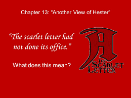 Chapter 13 Another View of Hester