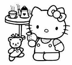 Small Picture Hello Kitty Tea Party Coloring Pages Coloring Pages