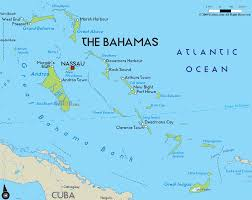 physical map of bahamas  ezilon maps