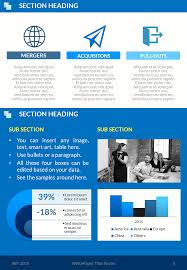 Corpo Blue Whitepaper Template Powerpoint Ppt Templates