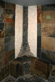 custom tile showers tile st louis bath remodel slate shower with custom mosaic