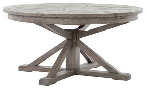 chabert french reclaimed wood extendable round dining table rustic dining tables by kathy kuo home