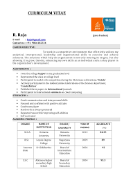 CURRICULM VITAE R. Raja (java fresher) E-mail : Raja@gmail ...