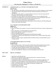 Call Center Skills Resume Call Center Customer Service Rep Resume Samples Velvet Jobs 90