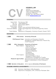 Resume Format For Lecturer Post Objective Resume Format For