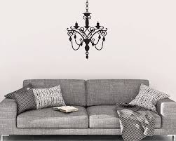 chandelier wall decal chandelier wall decor vinyl wall decal chandelier wall decals home decor chandelier decals decal