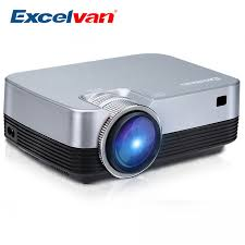 <b>Excelvan Q6</b> Mini Portable LED Projector <b>1800Lumen</b> Touch Panel ...