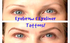 eyebrows eyeliner tattoos before after permanent cosmetics