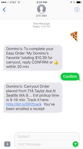 How It Works Text Message A Pizza Emoji To Order Dominos